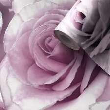 Madison Rose Paillettes Floral Papier Peint Lilas Violet-Muriva 139522 Amethyst