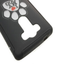 CoverON® for LG G3 (2014) Case - Ultra Slim Hybrid Phone Cover - Black Dog Paw