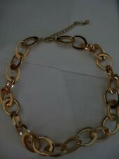 Gold-coloured metal chain necklace