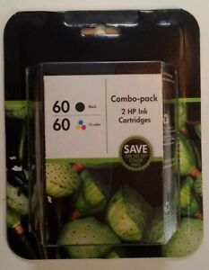 New! Genuine HP 60 Combo Pack Black & Tricolor Ink Expired 09/2015 SEALED NIB!