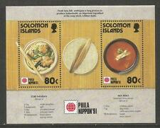 Solomon Is 1991 Phila Nippon '91 ss--Attractive Food Topical (707) MNH