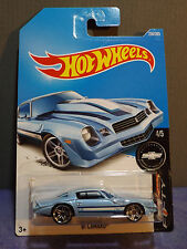 "2017 Hot Wheels '81 CAMARO in BLUE. HW CAMARO ""50"" series 4/5. Long Card"