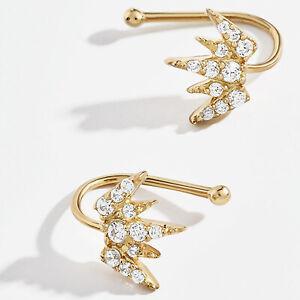 Fake Cartilage Cuff Gold Helix Clip On Earrings False Earring Ear Helix Wrap UK
