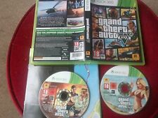 GRAND THEFT AUTO 5 V. XBOX 360 GAME + MANUAL & MAP & BOTH DISCS