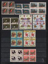 ECUADOR 1958-1985 SET 10 BLOCKS 4 FAUNA GALAPAGOS FLORA FRUITS BUTTERFLY ERROR