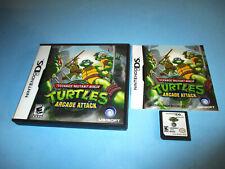 Teenage Mutant Ninja Turtles: Arcade Attack Nintendo DS Lite DSi w/Case & Manual