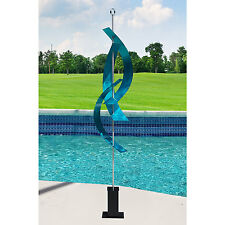 Large Aqua Blue Indoor Outdoor Modern Metal Sculpture Yard Art by Jon Allen