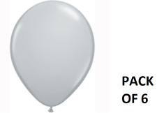 """Grey Plain 11"""" Suitable for air or helium filling wedding party Latex Balloons"""