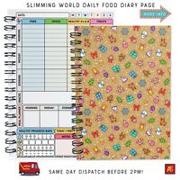 Food Diary Slimming World DIET A5 Weight Loss Group Hex's & EXTRAS - XMAS