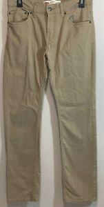 Levi's Boys 511 Slim Sueded Pants Size 18REG 29x29 Khaki S0301