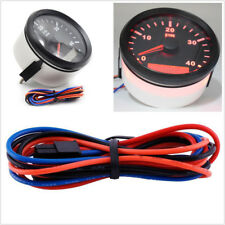 Red Backlight Car Marine Tachometer Gauge LCD Tacho Hour Meter 0-4000 RPM IP67