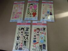 5 assorted Taggles Dress-up doll sticker packs