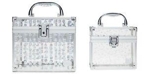 Caboodles Galaxy Glam Prima Donna Train Case Cosmetics Organizer Hologram 2 in 1