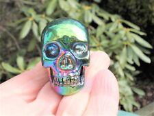 Rainbow Aura Quartz Skull Helps Clear and Balance Energy!