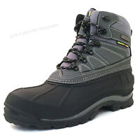 Mens Hiking Winter Boots Leather Waterproof Trail Comfort Hiker Snow Shoes Sizes