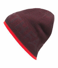 The North Face TNF TICKER TAPE REVERSIBLE BEANIE HAT Ski Snow Cap Root Brown Red