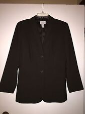 Ann Taylor LOFT Brown Suit Blazer Size10p Lined Fitted Petite Polyester Jacket