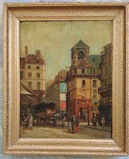 Gustave MASCART (1834-1914) Place animée à Paris 1885