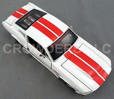 Maisto Pro Rodz 1967 White w/ Red Stripes Ford Mustang GT 5.0 Die Cast 1:24