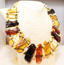 Unique Massive Genuine Baltic Amber Adult Necklace Choker 20.5 in 52 cm