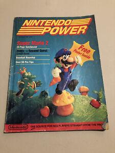 NINTENDO POWER 1988 First Premier Issue #1 Volume Poster Super Mario FS