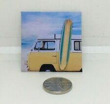 HANDMADE MINIATURE DOLLS HOUSE ACCESSORY CANVAS STYLE PICTURE CAMPER SURFING