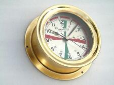 ALL BRASS CHELSEA CLOCK USA TIMEMASTER SHIPS BOAT RADIO ROOM MARINE DECK CLOCK