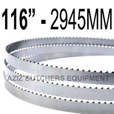 "Butchers Meat Bandsaw Blades (5 Pack). 116"" (2945mm) X 5/8"" X 4tpi"