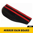 2X Black Car Left Right Side View Mirror Rain Board Eyebrow Guard Snow Sun Visor