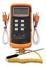 Double canal k type thermocouple thermomètre numérique 7338 II, 2 capteurs & sonde