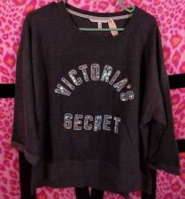 Victoria's Secret Supermodel Essentials Sequin Bling Cropped Boxy Sweatshirt M