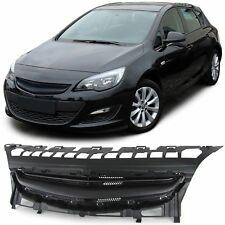 FRONT GRILL BLACK FOR VAUXHALL ASTRA J 12-15 NO EMBLEM SPOILER NEW