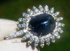 Sapphire Gold Pendant Necklace Diamond Natural 8.07CTW GIA Certif RETAIL $12300