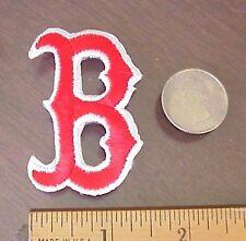 BOSTON RED SOX B Logo MLB Baseball Cap Shirt Jersey Embroidered Iron-On Patch
