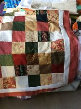 Large Patchwork Country Quilt 80 Inch Square