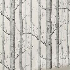 Fashion Textured Tree Forest Woods Wallpaper Roll Wall Paper Home Decorating B