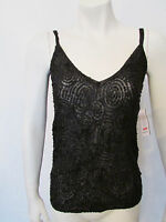 $295 Sexy DKNY Donna Karan tank top blouse camisole sequins embellished sz P NWT