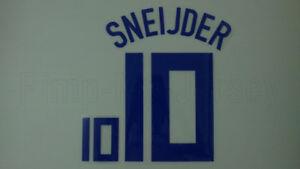 SNEIJDER #10 Netherlands Away EURO 2008 Name Set