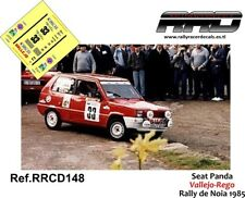 DECAL/CALCA 1/43; Seat Panda; Vallejo-Rego; Rally de Noia 1985