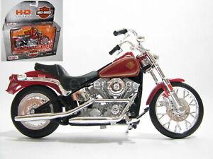 Harley Davidson 1984 FXST Softail Red 1:18 Maisto Motorcycle