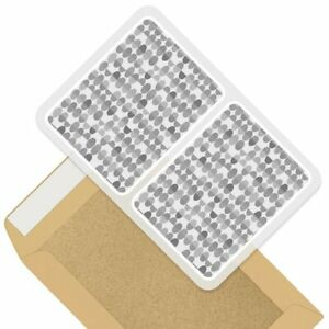 2 x Rectangle Stickers 10cm BW - Funky Retro Dots 70's 80's #35552