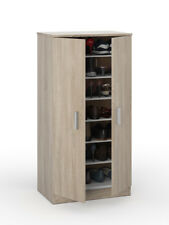 Alfy Oak Effect Shoe Storage Unit Cabinet Cupboard Shoe Rack with Shelves 2892