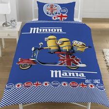 Minions Mania Hello London Single Panel Duvet Cover Bed Set Kevin Stuart & Bob