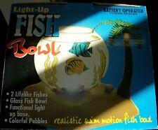 Pecera Fish Bowl con luz de fondo- Bola de Cristal