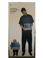 8' TALL Standee Yao Ming/Mini Me APPLE Powerbook G4 ORIGINAL COLLECTIBLE NICE