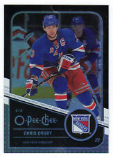11-12 OPC O-Pee-Chee Retro Rainbow Black Chris Drury #44 100/100 Mint Rare