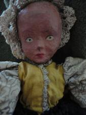 19th Century Pennsylvania Dutch papier Mache Doll Hand Made Vintage