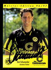 Toni Schumacher AUTOGRAFO biglietto Borussia Dortmund 1996-97 ORIGINALE SIGN + a 131156
