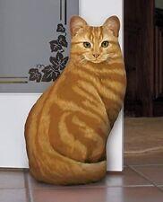 Fiddler's Elbow Orange Tabby Cat Door Stop
