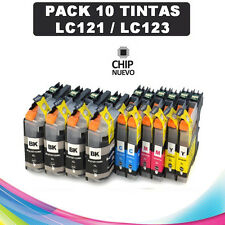 10 cartuchos de Tinta Non-Oem XL Brother LC121 LC123 dcp-j132w j152w j552dw